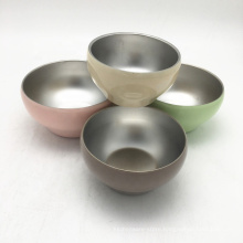 reusable 13oz color painted dinner sets stainless steel mini soup bowls