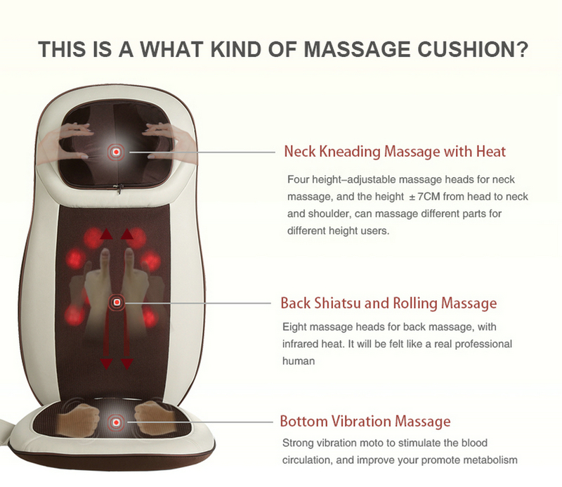 Back Shiatsu Massage Cushion