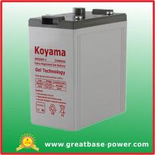Bateria de gel 2V 600ah para energia solar / energia eólica / sistema hidráulico