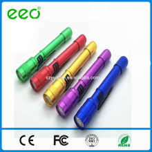 Trade Assurance resistente pluma clip baja precio colorido llevó antorcha
