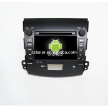 Quad core!car dvd with mirror link/DVR/TPMS/OBD2 for 7inch touch screen quad core 4.4 Android system Mitsubishi Outlander