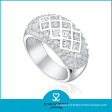 Micro Pave 925 Sterling Silver Ring 10 Years Manufacturer (R-0208)