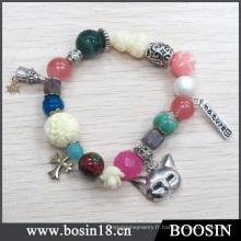 Chine fabricant en gros bracelet de perles de chaîne en argent # 31429