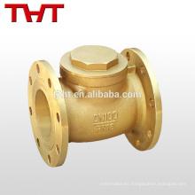 oscilación con bridas de bronce válvula de retención de la válvula de retención del ángulo del dispensador de combustible de 12 pulgadas