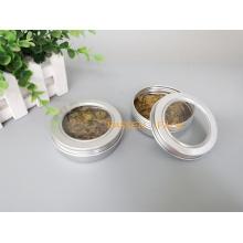 100ml Aluminium Kosmetik Creme Glas mit Haustier Fensterabdeckung (PPC-ATC-100)