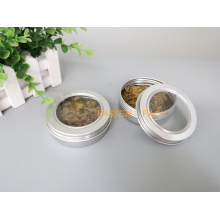 100ml frasco de creme cosmético de alumínio com tampa da janela do animal de estimação (PPC-ATC-100)