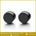 316L acier chirurgical Punk Style ronde plaqué noir magnétiques Plugs Bouchons d'oreilles