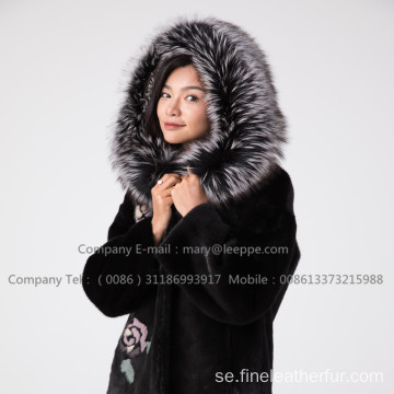 Winter Reversible Mink Fur Coat For Lady