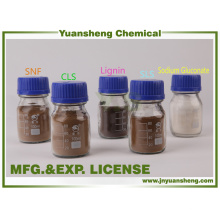 Fournisseur chimique de Yuansheng d'additif de Fertlitizer de calcium de Lignosulphonate de calcium