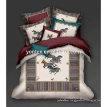 China bedding set suppliers 100% cotton beautiful wedding digital printing 3d bed sheet