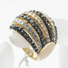 crystal multi rows rhinestone ring finger ring women's accessories the bride jewelry wholesale