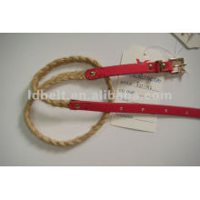 Kid PU braided belt