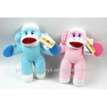 Фаршированная обезьяна игрушка большой красный носок обезьяна носок