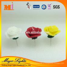 Красочный цветок в форме Розы Свадебные свечи, день свечи Святого Валентина