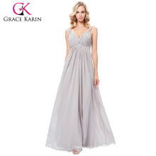 Grace Karin 2017 New Formal Grey Long Evening Ball Gown Party Bridesmaid Prom Dress Stock Size 4-16 GK000129-3