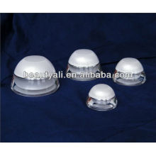Domed Branco Embalagem Cosmética Creme Creme Frasco 5ML 15ML 30ML 50ML
