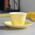 80ML yellow cup and saucer