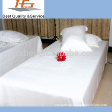 Factory direct wholesale polycotton single bed sheets/bulk bed sheets