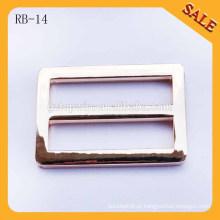 RB14 Ouro sem pinos acessórios de metal de fivela deslizante bolsa para peças de saco