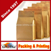 Kraft Paper Bag with Window and Zip Lock (220095)
