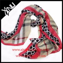 Usine directe dames bonne qualité écharpe en soie numérique