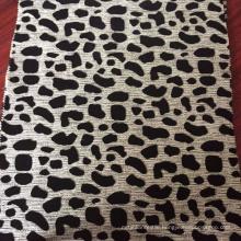 Cheap Price of Animal Design Flock Upholstery Fabric