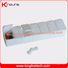 Plastic 7-Cases Pill Box (KL-9076)