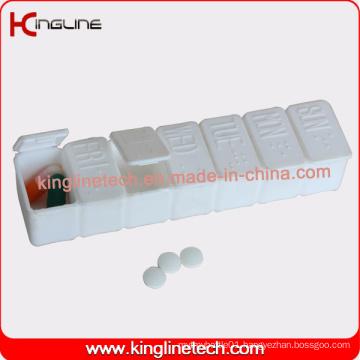 Plastic 7-Cases Pill Box (KL-9076)