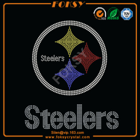Steelers NFL ferro in rhinestone su patch