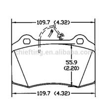 D592 425182 for peugeot 406 brake pad