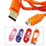 USB AM to Micro 5P Cable, with Mesh Jacket, Various Colours are AvailableNew