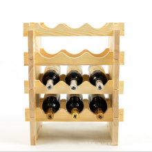 neues einzelnes Flaschenweinregalholz