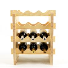 nova garrafa única vinho rack de madeira