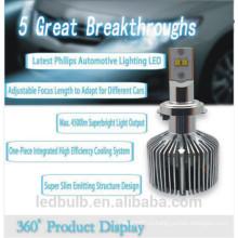 Высокая мощность привели фары лампы автомобиля привели свет лампы