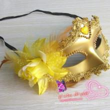 Halloween partido laço máscara máscara de tecido metade da máscara