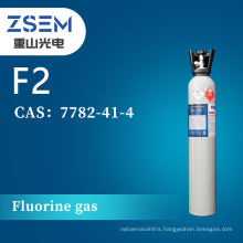 High Purity Fluorine gas F2 High Purity 99.99% 4N Chemical Cleaning Agent