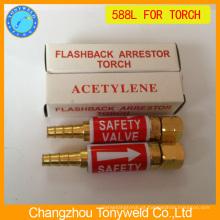 Válvula de segurança de tocha de soldagem Aparador de flashback 588L