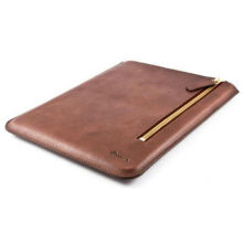 Customized Lightweight Brown Ipad Protective Leather Sleeves Magnetic Cover