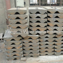 Ball Mill Spare Parts Casting Lining Liner Plate