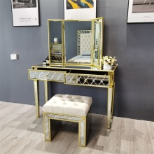 Antique gold antique mirror dressing table mirror