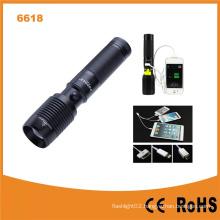 USB Power Bank 600lumens CREE T6 LED Flashlight (POPPAS-6618)