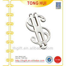 Metal $ argent symbol money clips