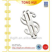 Metal $ silver symbol money clips