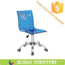 Silla giratoria de cocina Taburete / silla de acrílico de la barra con las ruedas Muebles