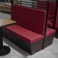 Wooden Leather Sofa for Restaurant