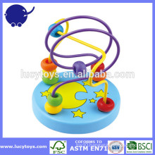 indoor wooden toys wire beads maze