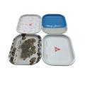 Cigarette Case Rolling Tin Tray for Making Cigar Smoke