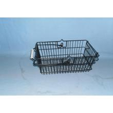 Wire mesh shopping basket