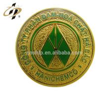 Großhandel Emaille Runde benutzerdefinierte Logo Metall Gold Revers Pins