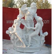Statue en marbre de jardin pour sculpture en pierre sculptée (SY-X1659)
